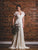 Romantic Lace Wedding Dress with Sleeves Sexy V-Neck Beach Wedding Gown CA041|CathyProm
