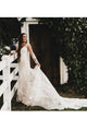 Chic Lace Appliques Mermaid Wedding Dress Long Sleeve Backless Bridal Gown CA042|CathyProm
