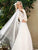 Lace Long Sleeve Bohemian Beach Wedding Dress Open Back Chiffon Bridal Gown CA044