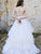 Illusion V-Neck A Line Wedding Dress Sexy See Though Back Bridal Gown CA046|CathyProm
