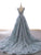 Double Neck Unique Lace Prom Dress Long A Line Prom Evening Dress CAP51242|CathyProm
