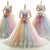 Ball Gown Sweetheart Colorful Prom Dress Beautiful Appliques Prom/Evening Gown CSM1512|CathyProm
