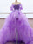 Purple Tulle High Low Prom Dress Sexy Off the Shoulder Sweetheart Prom Evening Dress CTB1514|CathyProm