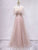 Off the Shoulder Unique Tulle Blush Prom Dress Long A Line Elegant Prom Evening Dress CTB1516|CathyProm