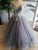 Sexy Deep V Neck Cap Sleeve Long Prom Dress Chic Appliques Ball Gown Formal Evening Dress CTB1518|CathyProm