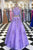 Charming Customize Two Pieces Strapless Lavender Lace Long Prom Dresses OHC478 | Cathyprom