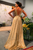 Elegant A Line V Neck Gold Sequins Prom Dress Backless Cheap Party Vintage Dresses OHC455 | Cathyprom