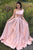 Elegant A Line One Shoulder Long Cheap Pink Prom Dresses Simple Prom Dresses with Pockets CP618