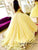 Ball Gown Cap Sleeve Yellow Prom Dress 2019 Beautiful Flower Sweetheart Prom Evening Gowns HSC2215|CathyProm