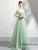 Elegant Tulle Spaghetti Straps Mint Prom Dress A Line Floor Length Appliques Prom Evening Dress HSC6613|CathyProm