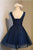 A Line V Neck Sleeveless Beading Appliques Tulle Homecoming Dress Short Prom Dress Party Dress  OHM126 | Cathyprom