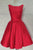 Cheap Homecoming Dresses Bowknot A-line Sleeveless Satin Short Prom Dress Party Dress OHM108 | Cathyprom