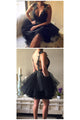 Little Black Dress Open Back Homecoming Dresses Short Prom Dress Party Dress OHM164