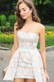 Chic Lace Homecoming Dresses Sheath Short Prom Dress Sexy Party Dress OHM131