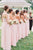 Cheap A Line Sweetheart Floor Length Sleeveless Long Chiffon Bridesmaid Dresses with Ruffles OHS116 | Cathyprom