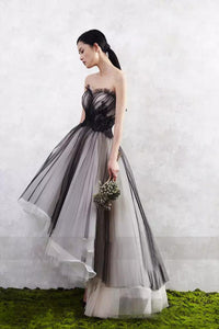 Ball Gown High Low Sweetheart Sleeveless Tulle Prom Dress/Evening Dress OHC187 | Cathyprom