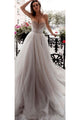 Beautiful A Line Sweetheart Sweep Train Sleeveless Long Tulle Beading Wedding Dress  OHD152 | Cathyprom