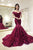 Chic Sparkly Trumpet/Mermaid Off-the-shoulder Sweep/Brush Train Sleeveless Applique Long Tulle Prom Dress OHC320 | Cathyprom