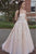 Chic A-line Strapless Floor Length Sleeveless Appliques Long Tulle Prom Dress/Evening Dress OHC229 | Cathyprom