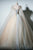 Ball Gown V-neck Floor Length Sleeveless Appliques Long Tulle Prom Dress OHC214 | Cathyprom