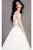 Sexy A-line Scoop Neck Floor Length Sleeveless Butterfly Appliques Long Tulle Bridal Gown Wedding Dresses OHD147 | Cathyprom