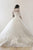 Chic Ball Gown Scoop Sweep Train Half Sleeves Tulle Wedding Dresses Bridal Gown OHD130 | Cathyprom