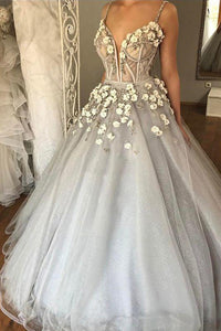 Chic Sexy Ball Gown Spaghetti Straps Floor Length Sleeveless Beading Tulle Bridal Gown Wedding Dresses OHD168 | Cathyprom