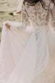 Chic A Line Scoop Floor Length Long Sleeve Floor-length Chiffon Bridal Gown Wedding Dresses OHD134 | Cathyprom