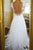 Chic A-line V-neck Sweep/Brush Train Sleeveless Long Tulle Bridal Gown Wedding Dresses OHD149 | Cathyprom