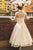 Vintage A Line Bateau Tea-length Sleeveless Long Tulle Romantic Bridal Gown Wedding Dresses Flowers OHD159 | Cathyprom