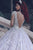 Ball Gown Wedding Dresses Romantic Long Sleeve Long Train Lace Bridal Gown OHD217