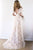 Short Sleeve Wedding Dresses V Neck A Line Appliques Sexy Lace Backless Bridal Gown OHD209