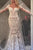 Long Sleeve Wedding Dresses Mermaid Button Back Long Train Lace Luxury Bridal Gown OHD215