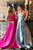 New Simple A Line Sweetheart Pocket Beaded Long Satin Senior Prom Dress OHC497 | Cathyprom