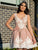 Lace Appliques Blush Homecoming Dress for Teens Short Prom Party Dress PIN71226