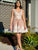 Lace Appliques Blush Homecoming Dress for Teens Short Prom Party Dress PIN71226|CathyProm