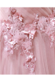 Ball Gown Sweetheart Appliques Blush Prom Dress Tulle Long Prom Evening Dress CAP51236|CathyProm
