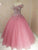 Cap Sleeve Ball Gown Amazing Beaded Blush Prom Dress 2019 Floor Length Prom Dress,Evening Dress SM7717|CathyProm
