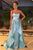 Simple A Line Blue Satin Long Ruffles Spring Party Dress Long Prom Dresses OHC489 | Cathyprom