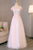 Simple Blush Pink Long Spring Senior Prom Dress With Lace Appliques OHC493 | Cathyprom