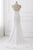 Simple Mermaid A Line White Chiffon Strapless Long Backless Prom Dresses OHC475 | Cathyprom