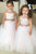 Simple Two Piece Ball Gown Halter Flower Girl Dresses with Appliques OHR005 | Cathyprom