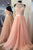Spring A Line Jewel Open Back Long Crystal Long Tulle Prom Dresses OHC484 | Cathyprom