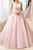 Stunning A Line Pink Tulle See Through Long Sweet Prom Dress Long Lace Top Evening Dress OHC491 | Cathyprom