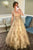 Vintage Cheap A-Line V Neck Tulle Sleeveless Long Prom Dresses Evening Dress OHC450 | Cathyprom