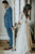 Sexy V-neck 3/4 Sleeves Boho Wedding Dress A Line Beach Wedding Dress Bridal Gown OHD210