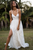 Stunning Spaghetti Straps Lace Boho Wedding Dress with Slit A Line Beach Wedding Dress Bridal Gown YRL112|Cathyprom