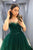 A Line Spaghetti Straps Sweetheart Sleeveless Long Green Tulle Prom Dress Evening Gown OHC329 | Cathyprom