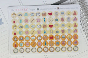 Hand Drawn Icon Dots Planner Stickers