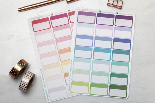 21 Half Appointment Box multi colour Planner Stickers